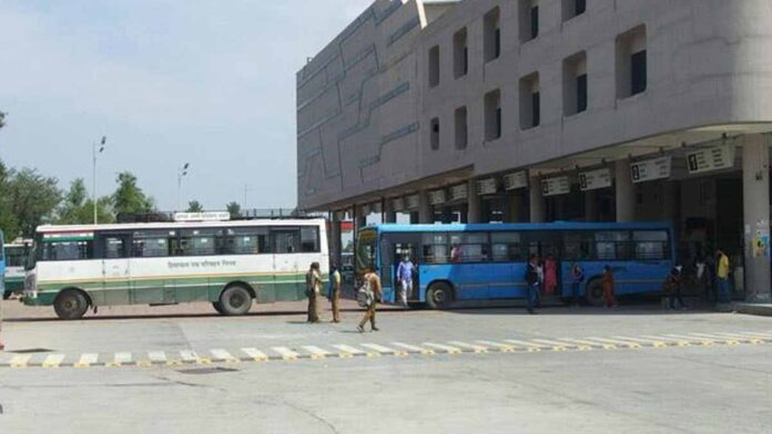 Bus stand was closed by installing HRTC buses
